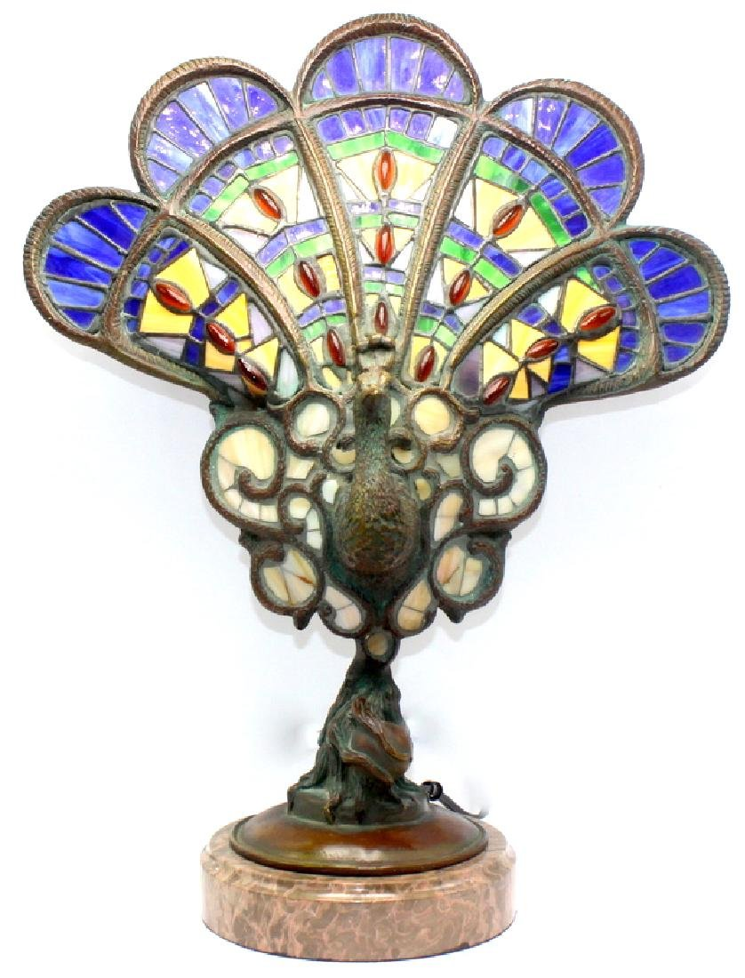 Stainless Peacock Lamp
