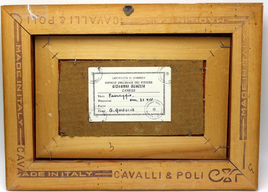 Giovanni Carlo Quaglia (Italian 1903-1970) Oil on Board - 4