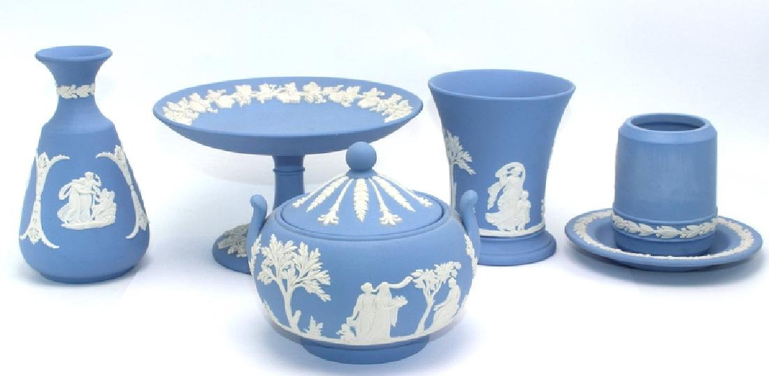 Collection of Blue Wedgewood Porcelain