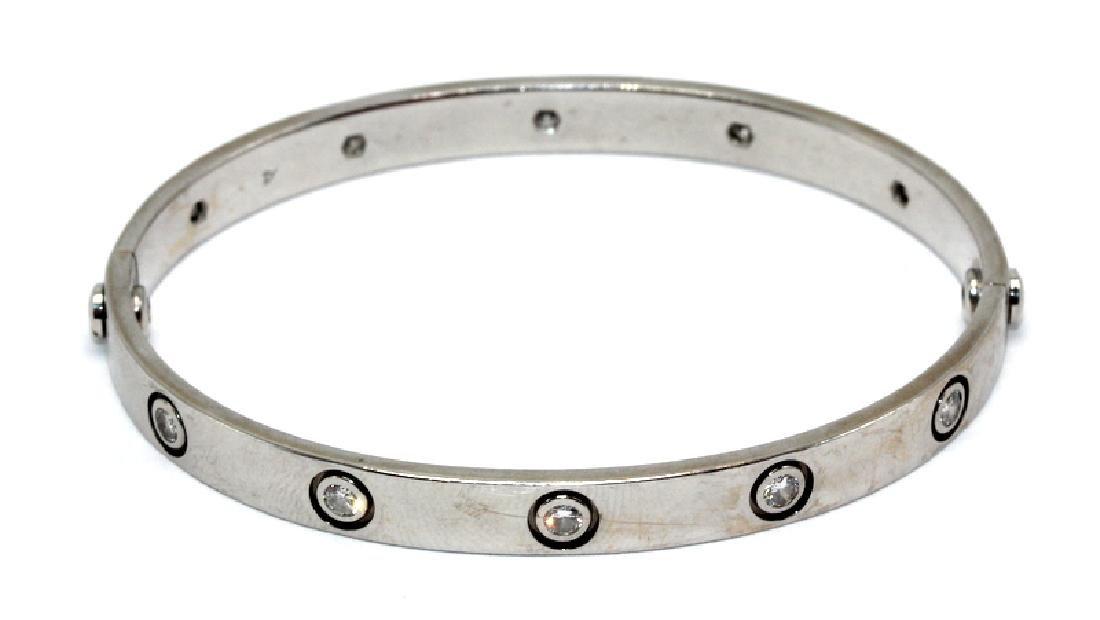 Cartier 18Kt WG & 1.00ct. Diamond Love Bracelet