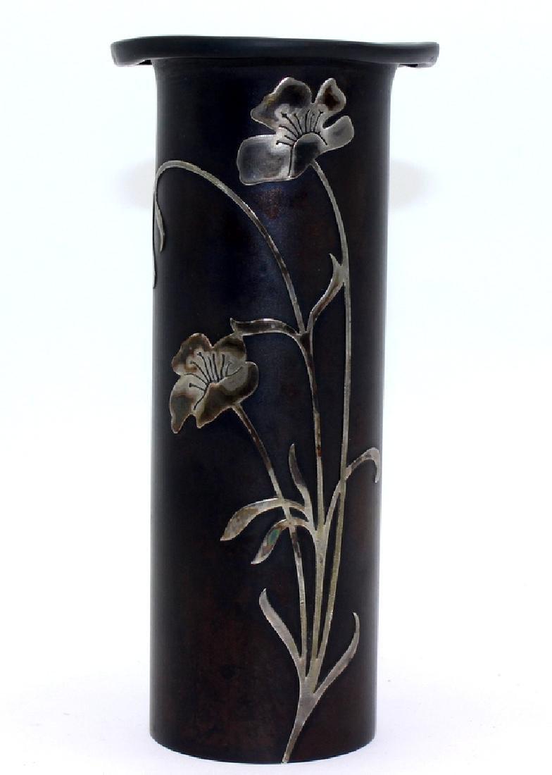 Heintz Sterling on Bronze Vase #3581C