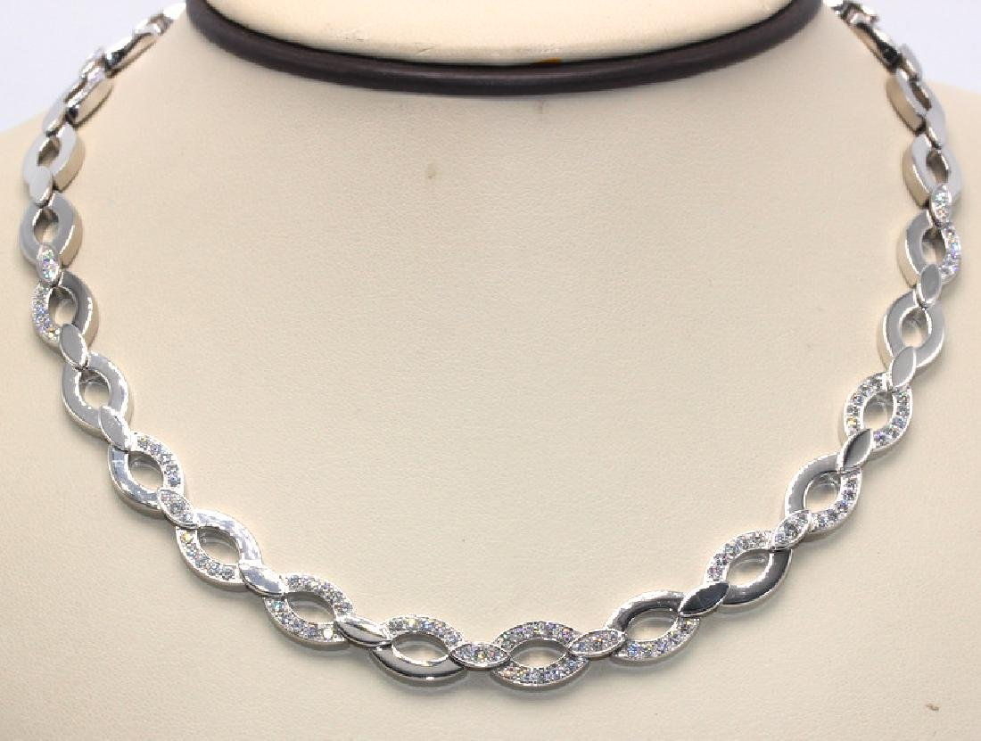 Cartier Diadea Diamond and White Gold Oval Link