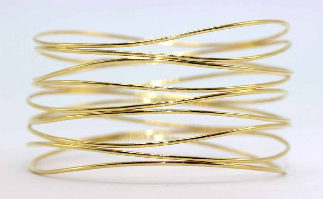 Contemporary 14K Yellow Gold Elsa Peretti 5 Row Bangle