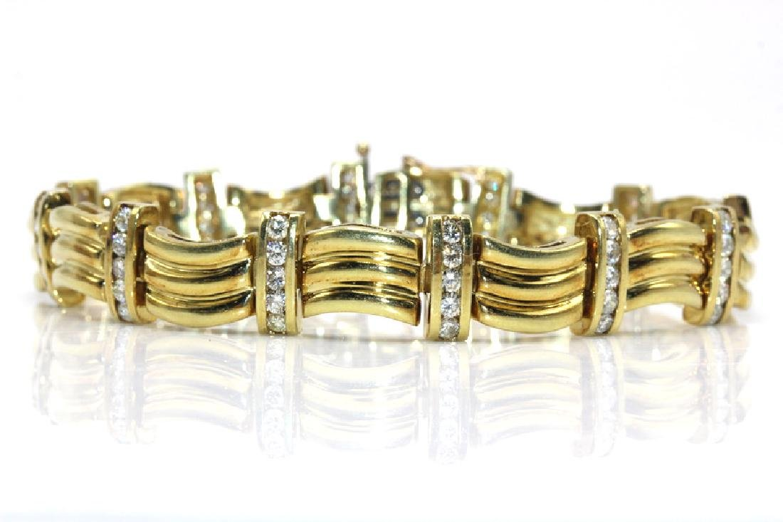 Contemporary Diamond and Yellow Gold Fashion Bracelet