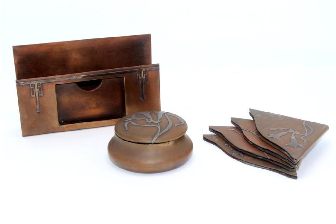 Heintz Sterling on Bronze Desk Set