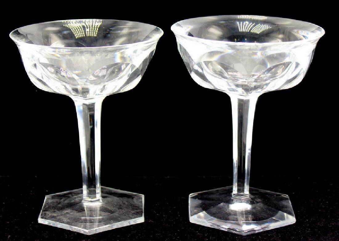 6 pc. Baccarat France Champagne Glasses