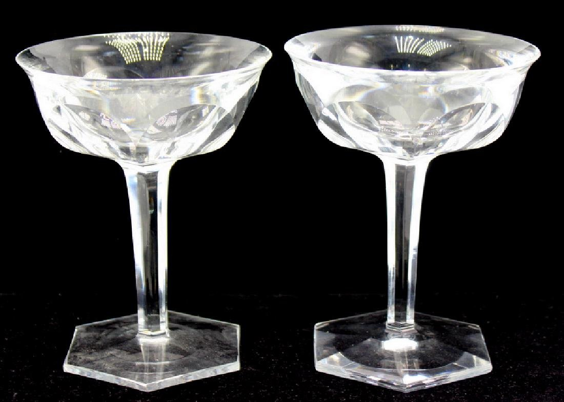 6 pc. Baccarat France Champagne Glasses