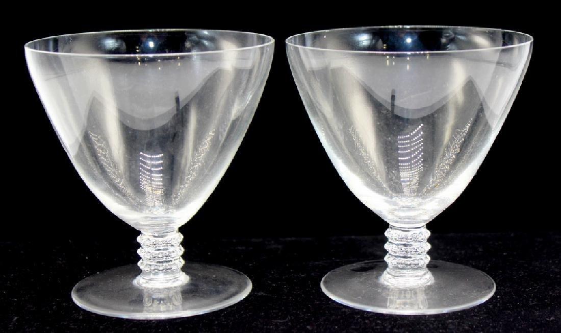 9 pc. Lalique Crystal Stemware Glasses