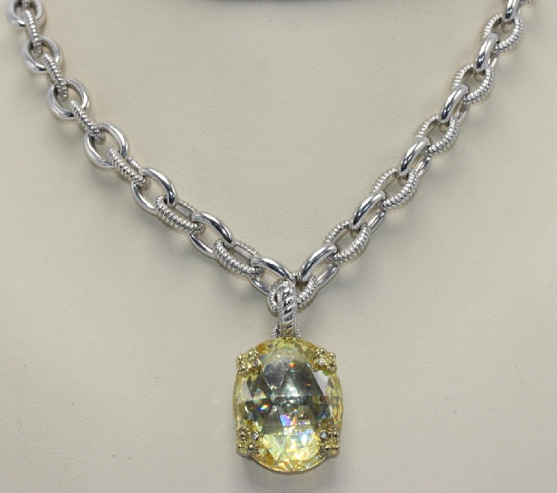Judith Ripka Sterling Silver & 18K Yellow Gold Textured