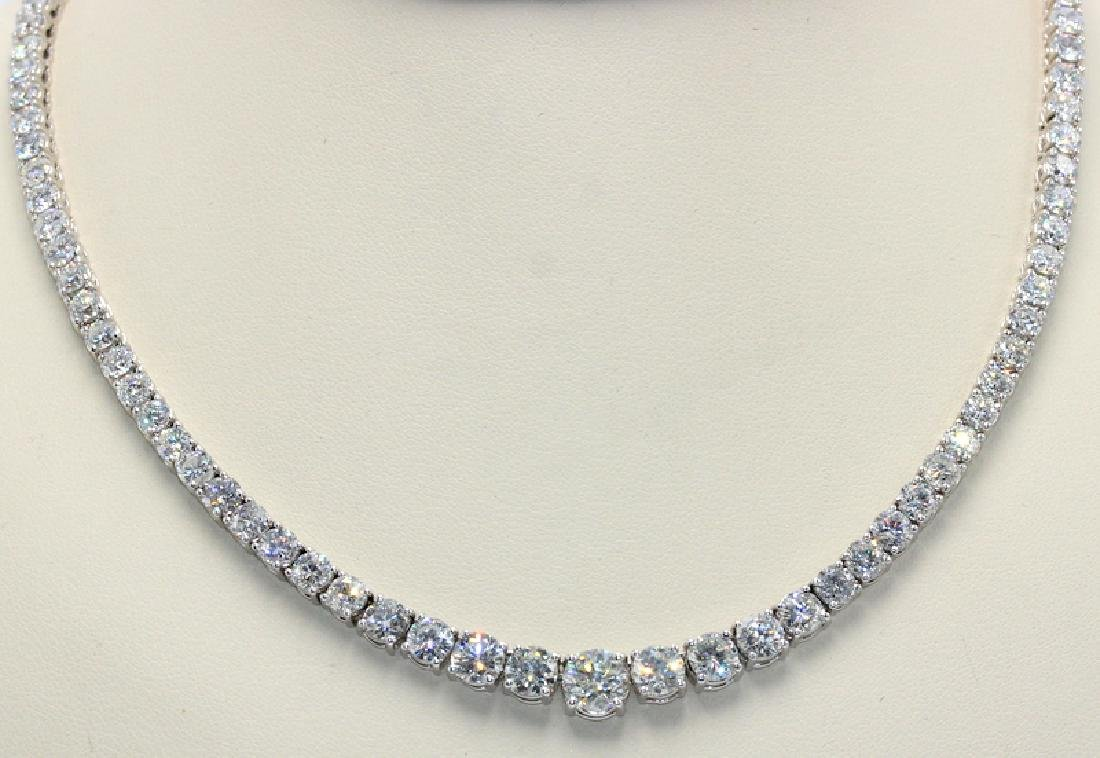 Contemporary White Gold and Diamond Riviere Necklace