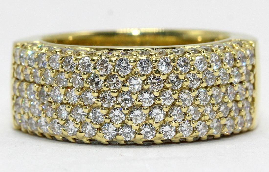 Contemporary Yellow Gold and Diamond Ring By Sonia B