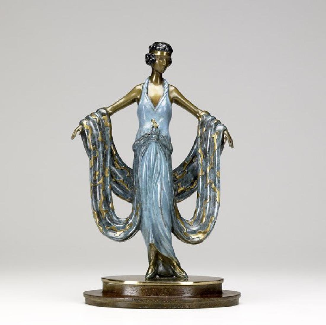 """Erte L.E. Bronze Sculpture """"Gala"""""""