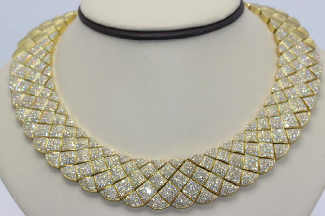 Contemporary Yellow Gold Necklace by Jose Hess #158775