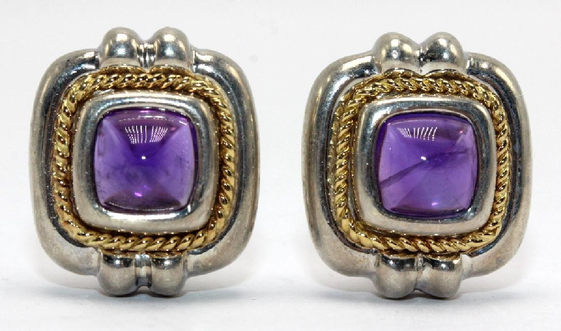 Tiffany & Co. Sterling Silver, Amethyst and 18Kt Clip
