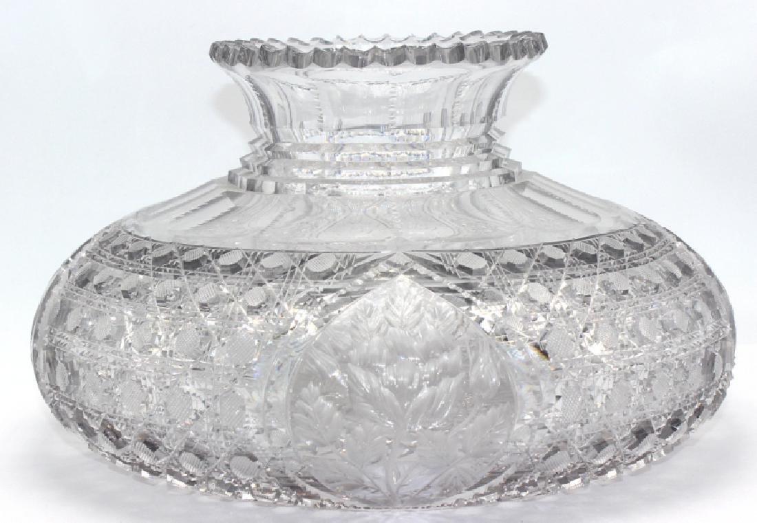American Brilliant Cut Glass Flower Centerpiece