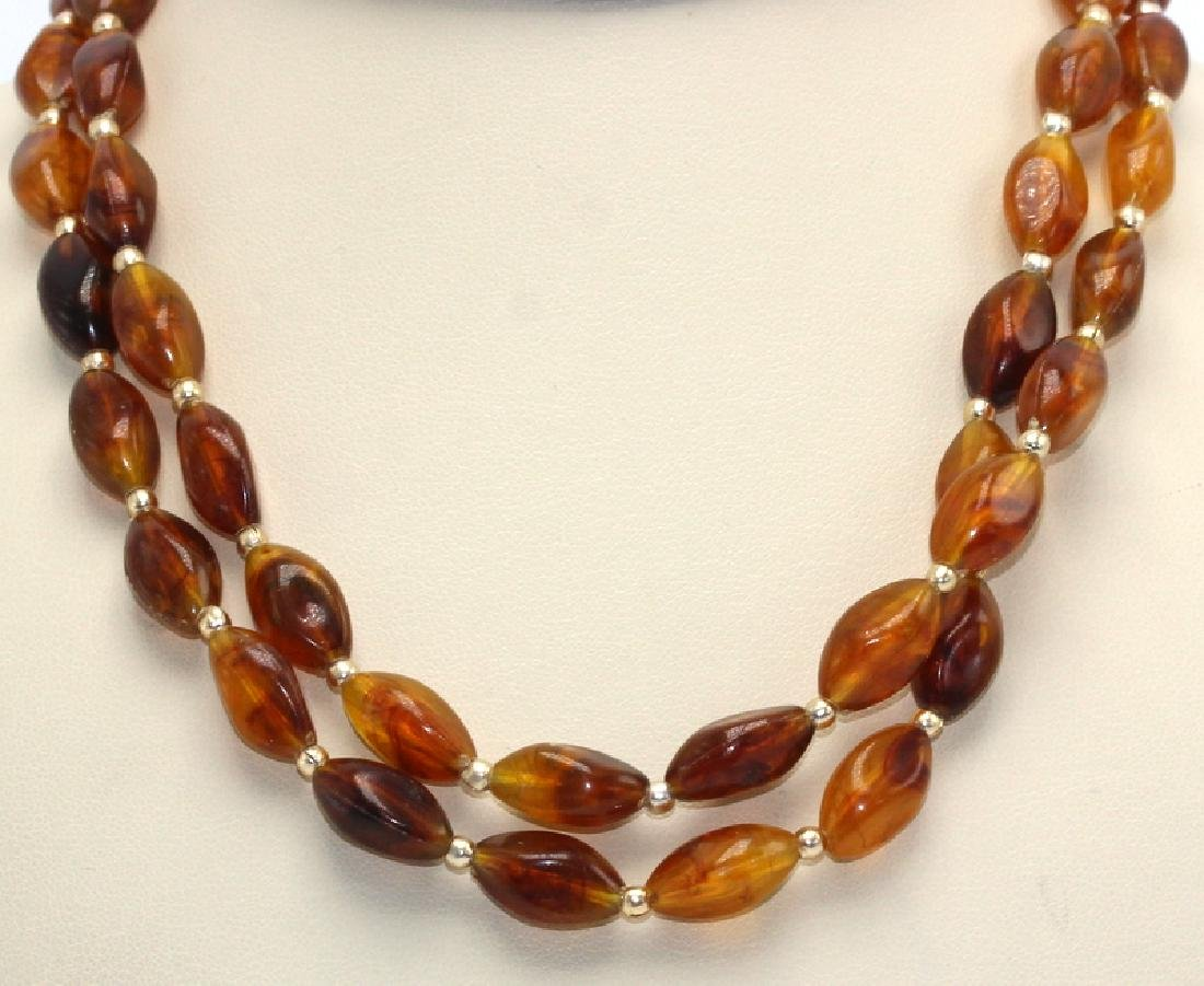 Opera Length Amber Necklace