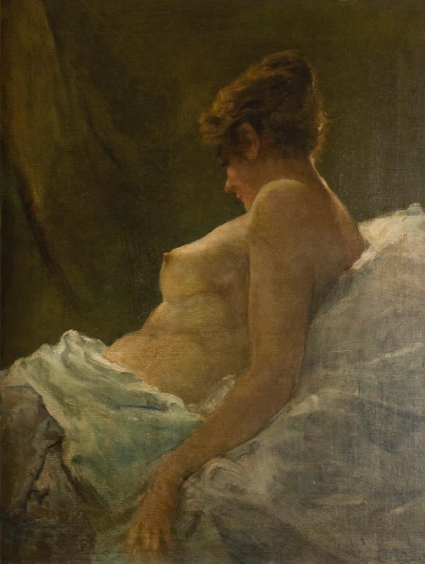 "John Singer Sargent (American, b.1856-1925) ""Seated"