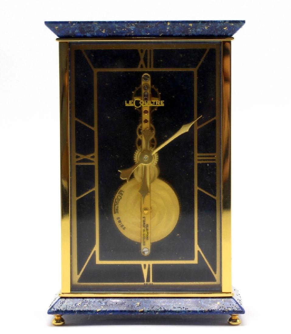 LeCoultre Lapis Lazuli & Gold Bronze Desk Clock