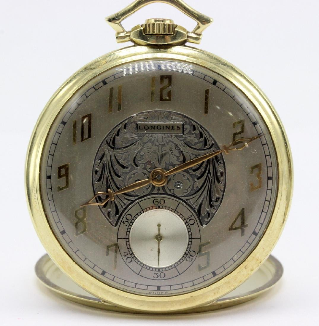 Longines 14Kt YG Slim Lever Pocket Watch