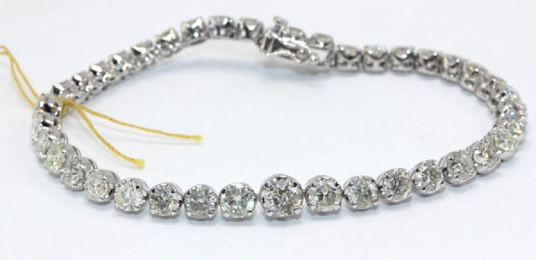 14Kt WG & 7.97ct. Diamond Bracelet
