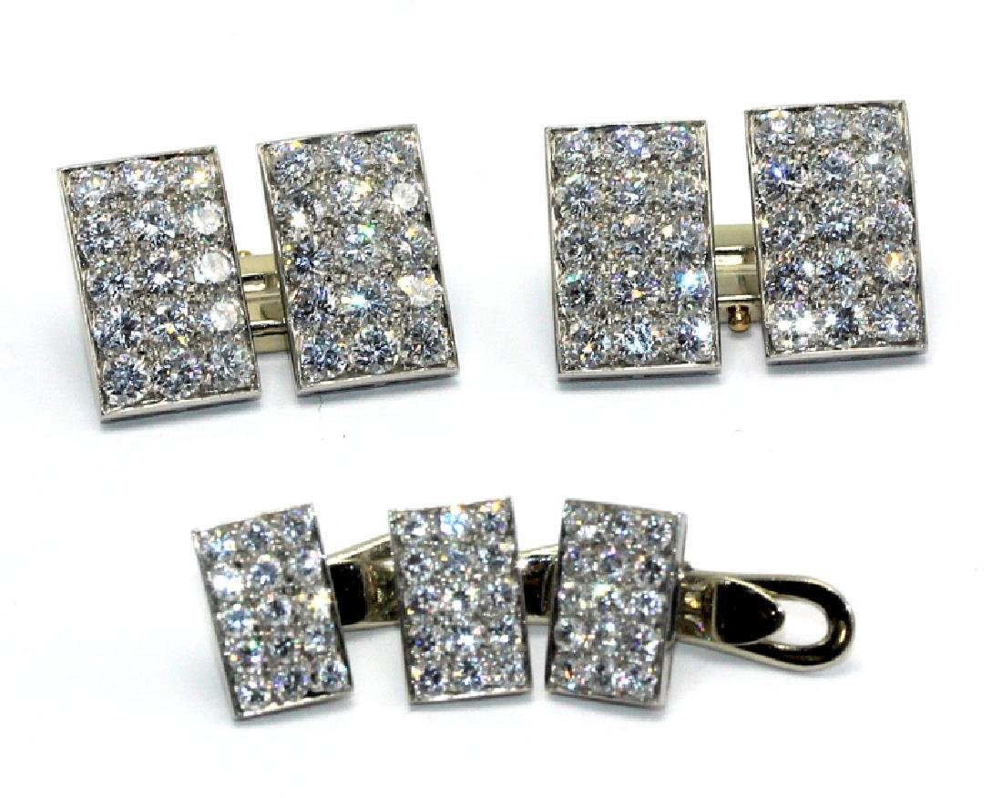 Bvlgari Platinum & 8.25ct. Diamond Cufflinks