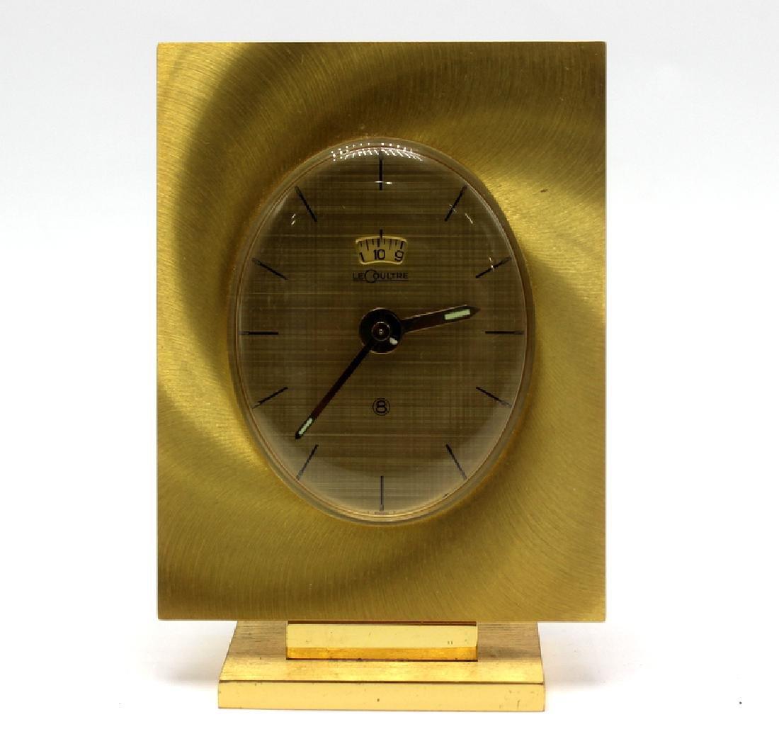 Rare LeCoultre Mid-Century Desk Clock