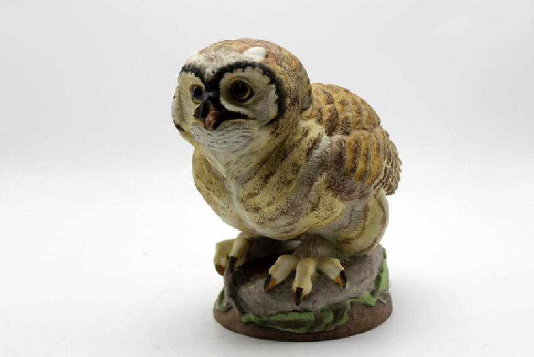 "Boehm ""Fledging Great Horned Owl"" Porcelain Figure"