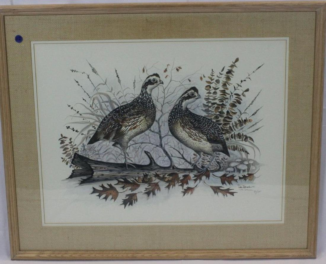 "Joe Daniel Lithograph ""Two Birds on a Branch"""