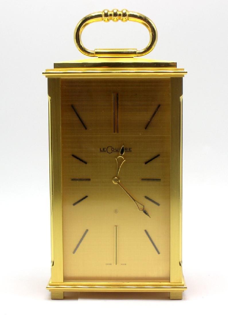 Rare LeCoultre Desk Clock