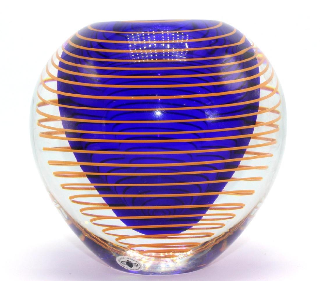 Stanislav Libensky (Czech, b.1921-2002) Art Glass Vase