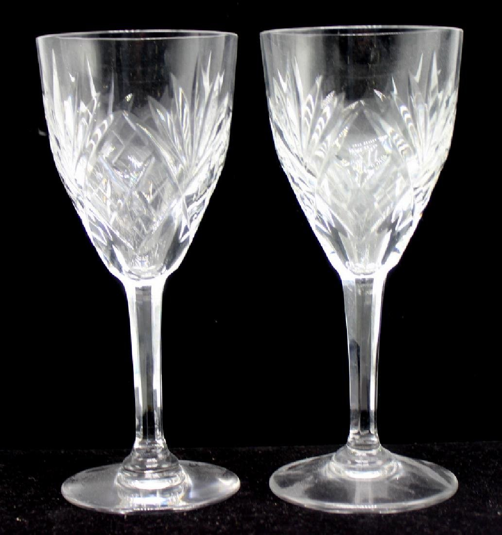 9 Pc. St. Louis France Crystal Chantilly Wine Glasses