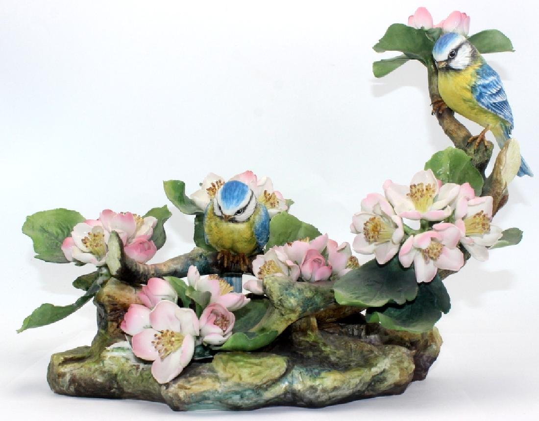 Boehm LE Blue & Yellow Birds Porcelain Figure
