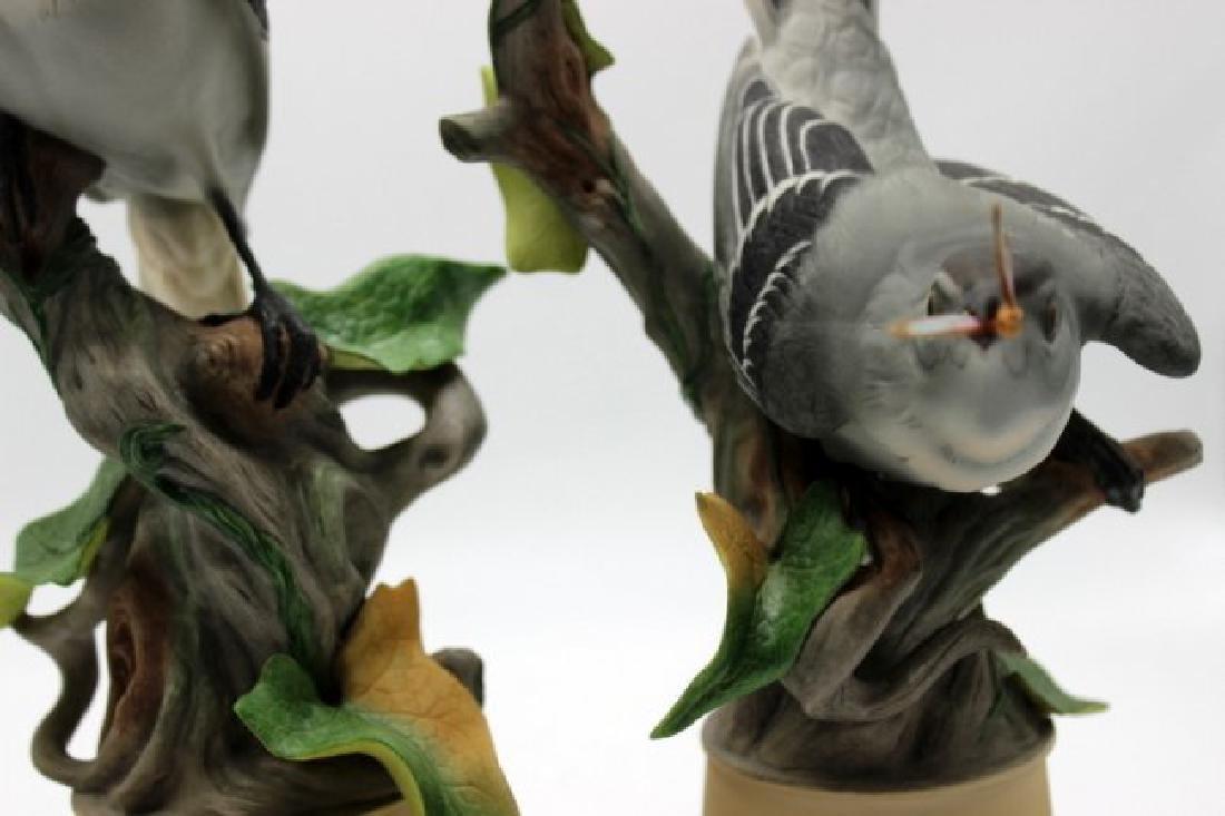 Pair of Boehm Mockingbirds Porcelain - 3
