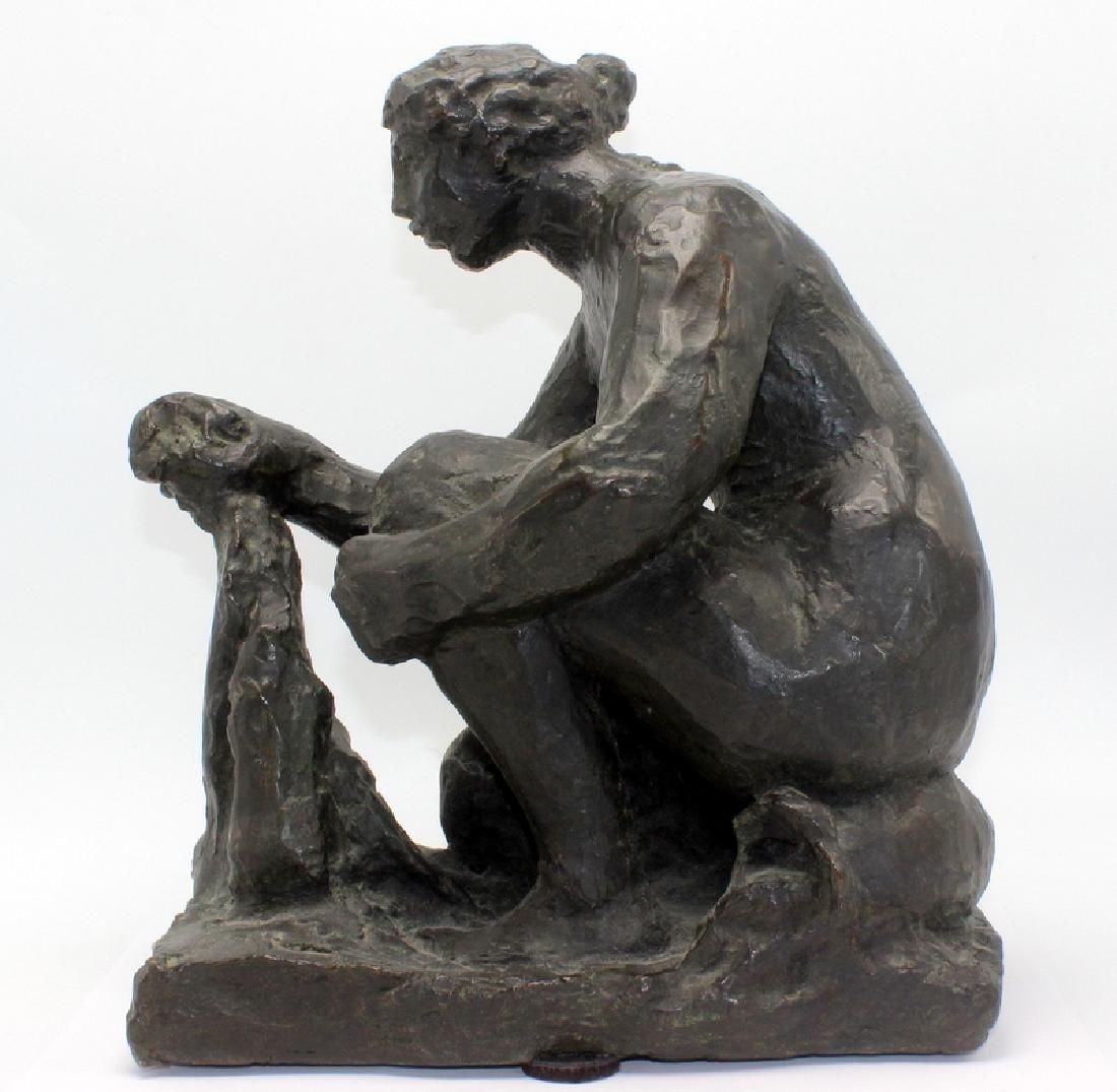 "Original Renoir Bronze ""La Grand Laveuse"" Sculpture"
