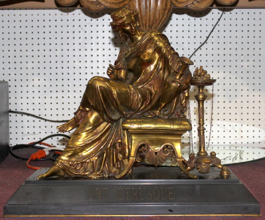 Antique August Moreau Bronze Seated Figure