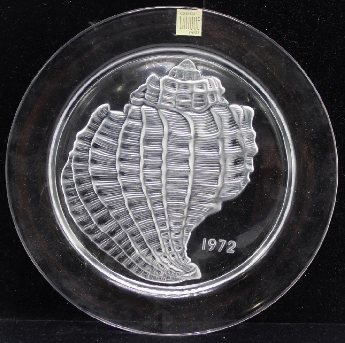 Pair of Lalique France Collector Plate