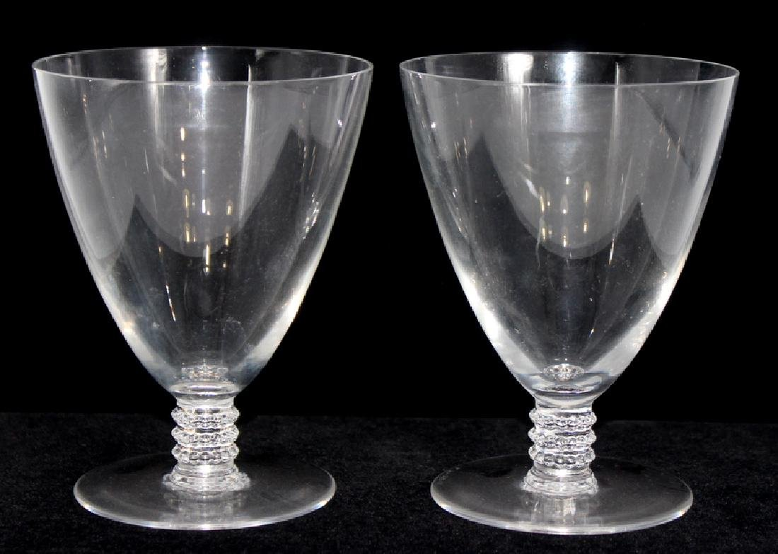 4 Pc. Lalique Crystal Wine Glasses