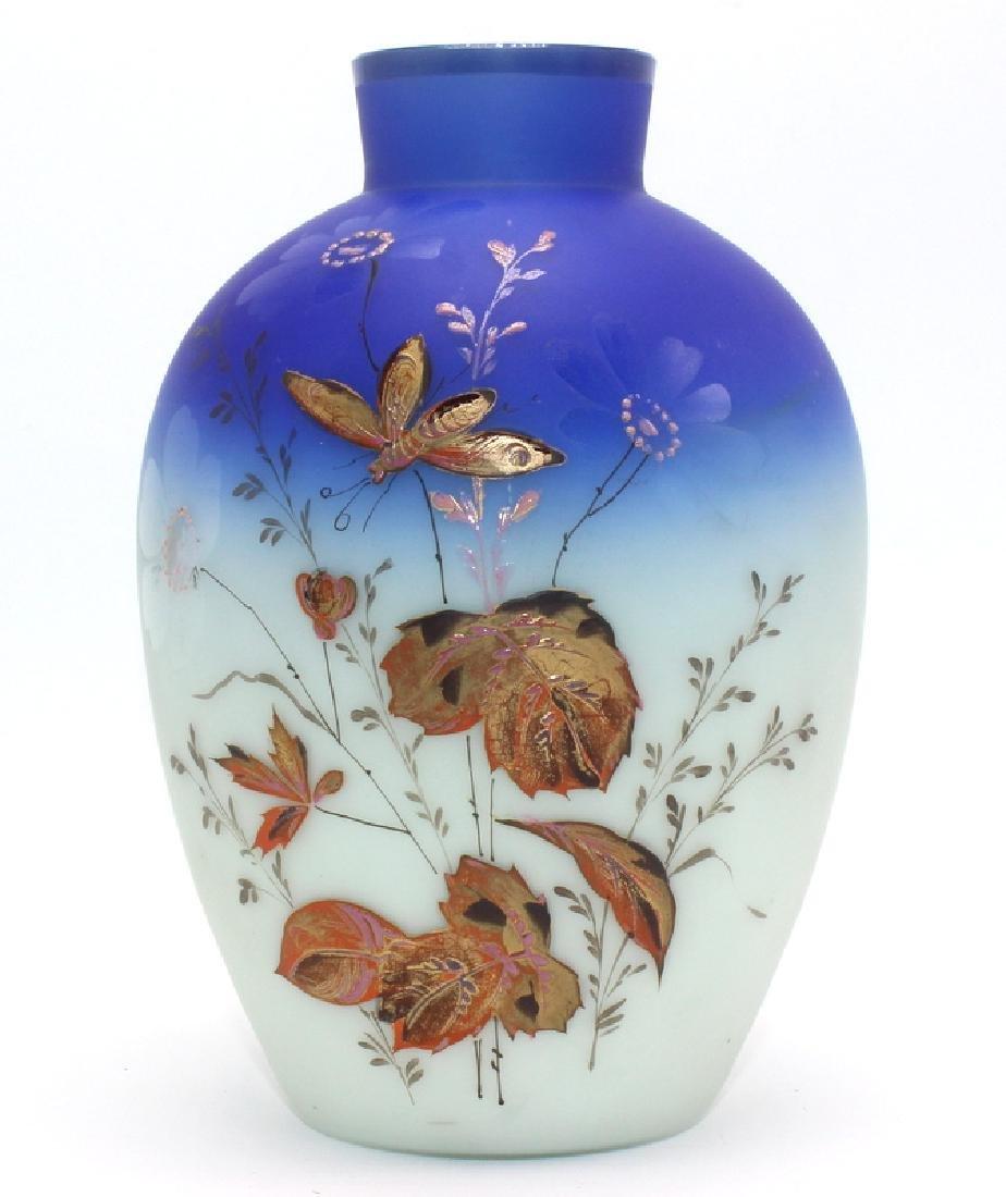 Antique Washington Handpainted Enamel Vase