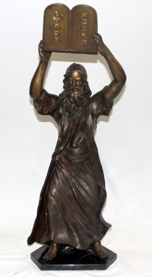 Bronze Statue of Moses & The Ten Commandments