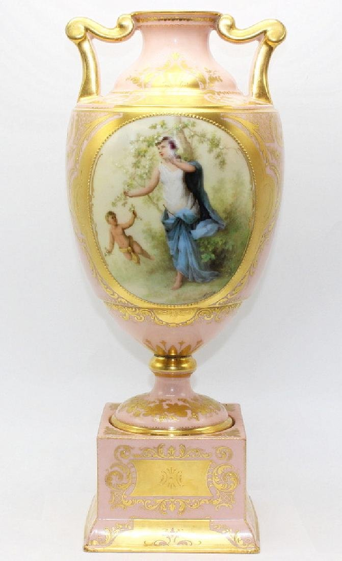 Royal Vienna Handpainted Vase