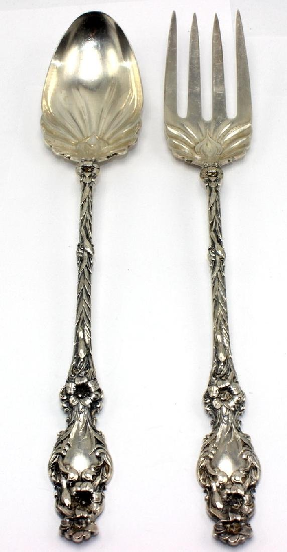 Sterling Silver Serving Fork & Spoon