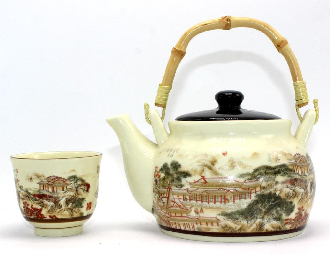 Antique Chinese Satsuma Tea Set