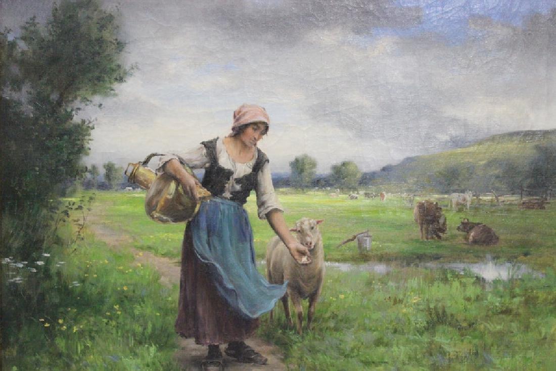 George Laugée (1853- c.1928) Oil Painting