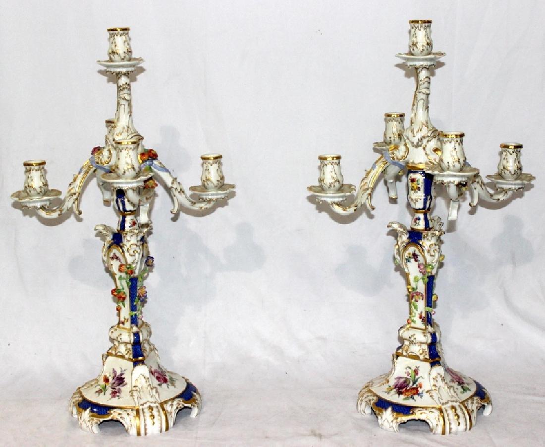 KPM Large Porcelain Candlesticks