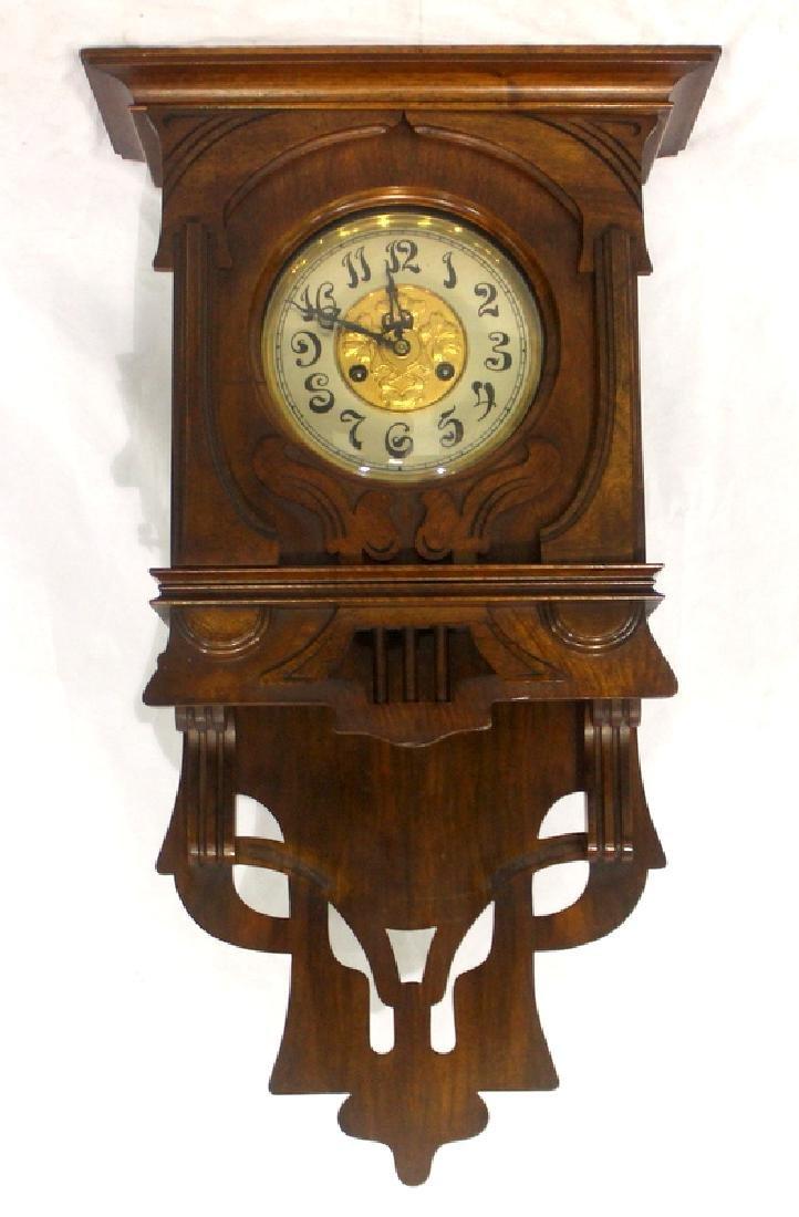 Antique European Art Nouveau Hanging Clock