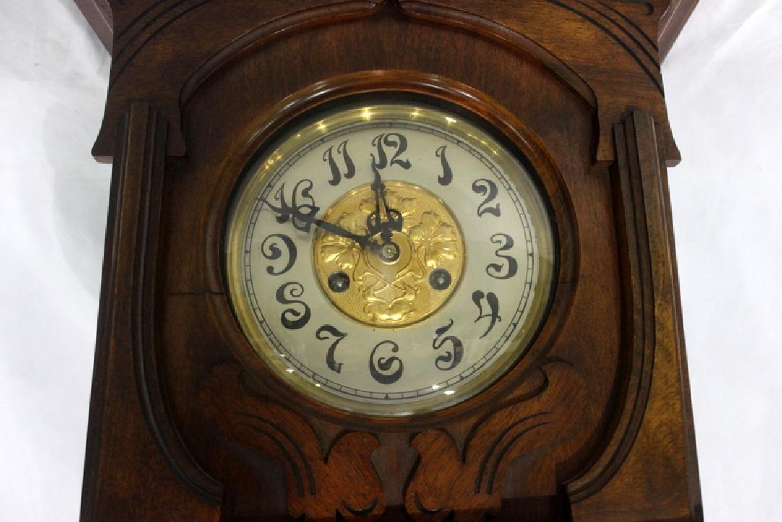 Antique European Art Nouveau Hanging Clock - 2