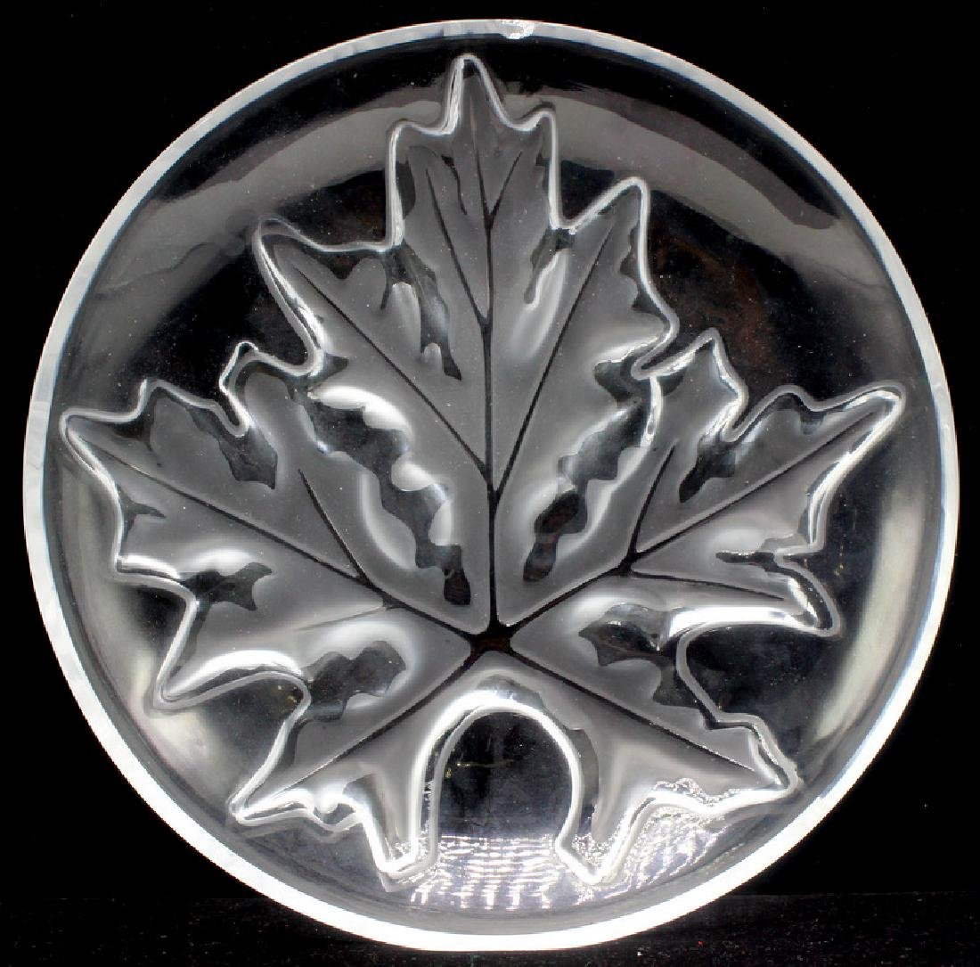 Lalique Schal Maple Leaf Bowl