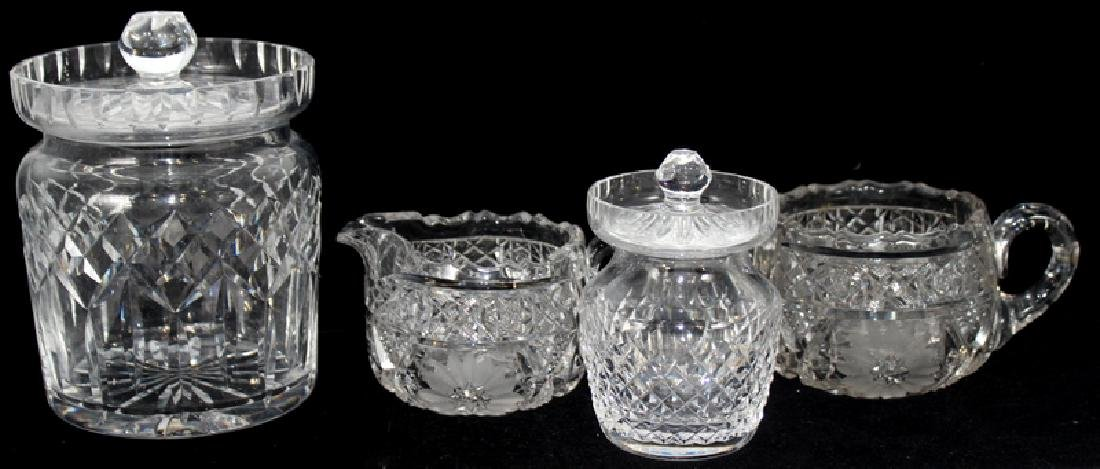 """Lot of Waterford Crystal """"Colleen"""" Service Pieces"""