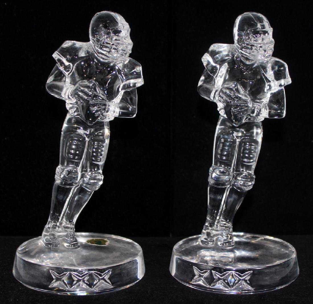 (2) Waterford Crystal Football Players