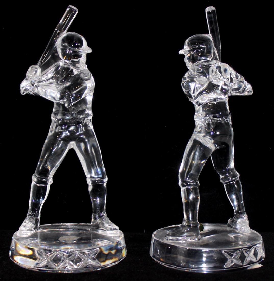 (2) Waterford Crystal Baseball Players